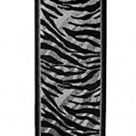 Alfombra 120x250 Negro Animal Print Decoración