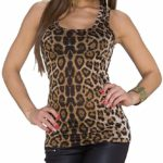 Camiseta sin mangas animal print