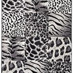 Negro Animal Print Decoración Patchwork