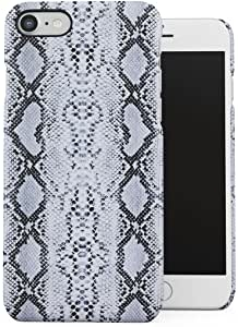 DODOX White Black Snake Skin Pattern Case Compatible with Apple iPhone 7 8 SE 2020 Snap-On Hard Plastic Protective Shell Cover Carcasa